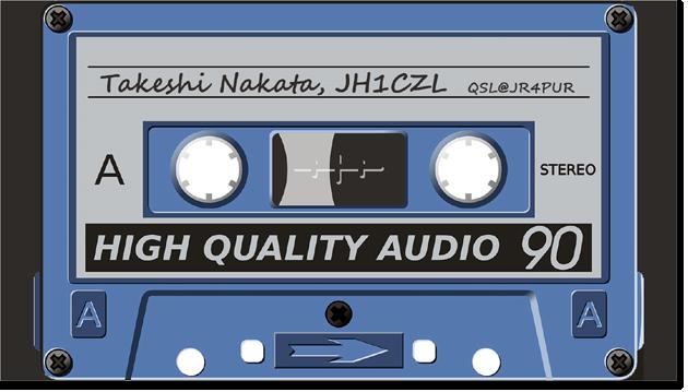QSL@JR4PUR #419 - Cassette Tape
