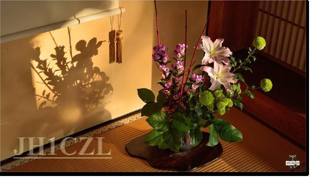 QSL@JR4PUR #457 - Ikebana