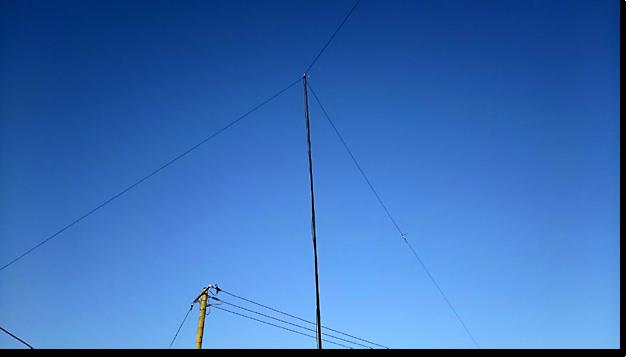 14MHzのダイポールアンテナを上げました