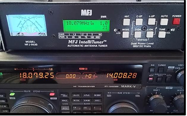 オートアンテナチューナーMFJ-993Bの便利な機能
