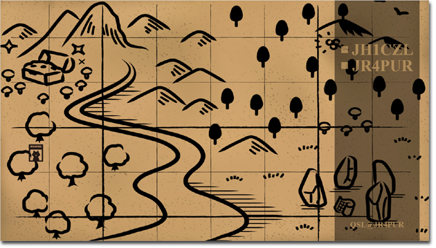 QSL@JR4PUR #507 - The Treasure Map
