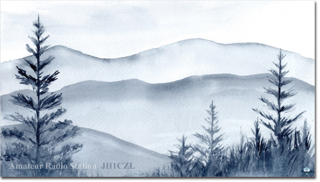 QSL@JR4PUR #508 - Ink Wash Painting