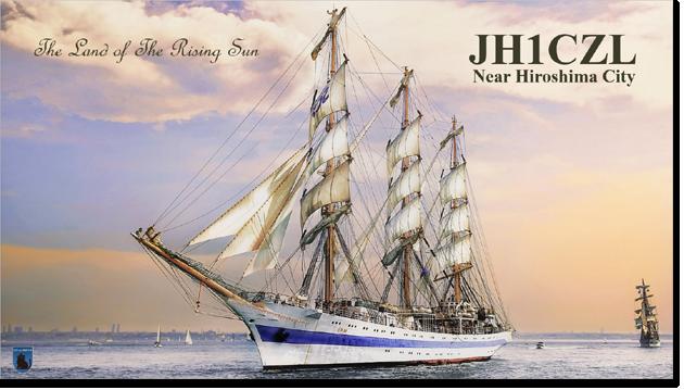 QSL@JR4PUR #519 - Sailing Ship