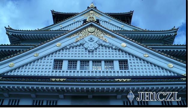 QSL@JR4PUR #584 - Osaka Castle