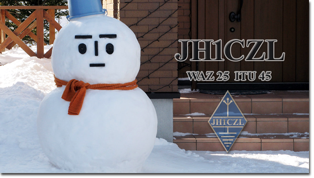 QSL@JR4PUR #641 - Snowman (aka:Yukidaruma)